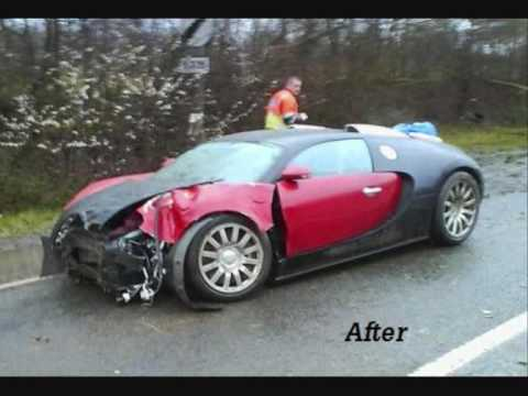 Slide Of Bugatti Veyron Crash Surrey Youtube
