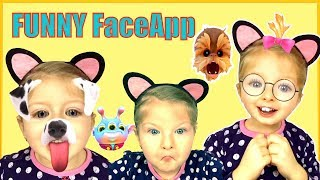 Funny Face App video Kids React