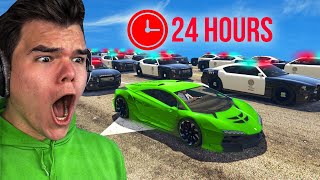 Playing GTA 5 For 24 Hours Without BREAKING LAWS!