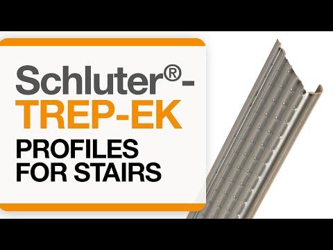 How to install tile edge trim on stairs: Schluter®-TREP-EK