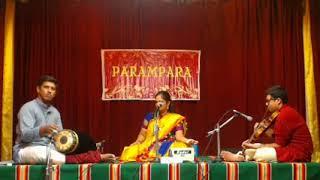 Parivadini LIVE- Krithika Sreenivasan @ PARAMPARA YUVA SANGEETH