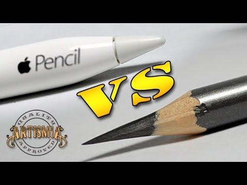 Apple Pencil VS A Real Pencil ~ Artismia Drawing ( iPad Pro & Paper by 53 )
