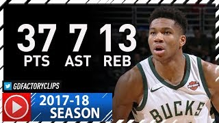 Giannis Antetokounmpo EPIC Full Highlights vs Jazz (2017.12.09) - 37 Pts, 13 Reb, 7 Ast, MVP Chants!