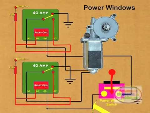 30 amp bosch relay wiring diagram how to wire a power window    relay    youtube  how to wire a power window    relay    youtube