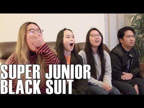 Super Junior (슈퍼주니어) - Black Suit (Reaction Video)