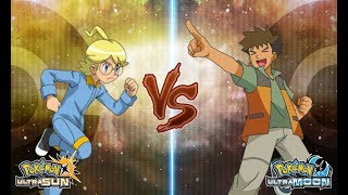 Pokemon Ultra Sun and Ultra Moon Clemont Vs Brock (Ash's Companion)