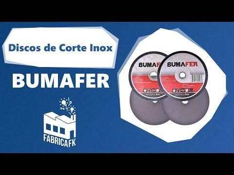 """Disco de Corte Inox 7"""" × 1,6 MM Bumafer - Vídeo explicativo"""