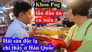 Thâm nhập chợ hải sản lớn nhất Busan - Khoa Pug lạnh mình với các loại hải sản không giống ai