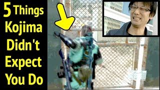 Kojima Didn't Expect You Do This in Metal Gear Solid V: Phantom Pain (MGS5)