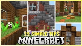 35 Simple Tips to Improve your Minecraft Builds!