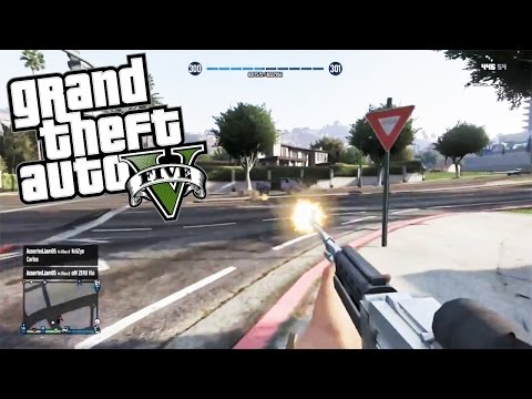 CRAZY FPS WEAPONS IN GTA 5! - First Person Shooter Mod (Call of Duty Type Weapons) - chaosxsilencer  - E_3tNWgQDWM -