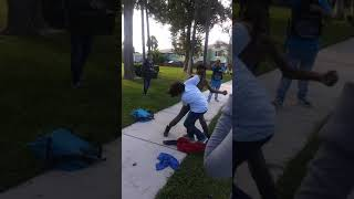 Fight lol kid gets get beat up for talking.....