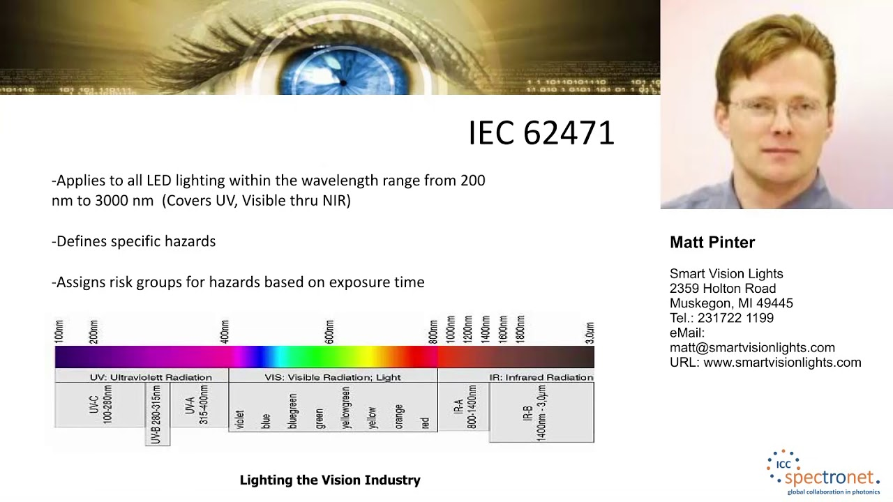 IEC 62471 photobiological safety standards for LED lighting products - Machine Vision Technology Forum 2017