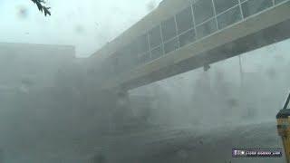 Hurricane Michael Category 4 eyewall - Panama City, Florida