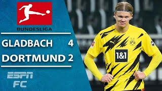 Erling Haaland's brace OUTDONE as Dortmund falls to Gladbach | ESPN FC Bundesliga Highlights