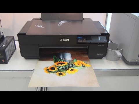 Epson SureColor P600 Wide Format Inkjet Printer review in 3D