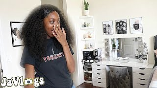 Surprising Teen With A DIY Vanity + Bedroom Makeover  | Family Vlogs | JaVlogs