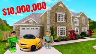 My GIRLFRIEND Built Me A $10,000,000 MANSION! (Roblox)