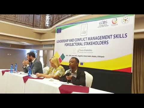 Manyakwal Mekonnen, Interim Head of CECOE at Launch of PEV Ethiopia