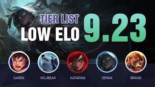 PRESEASON LOW ELO Tier List Patch 9.23 by Mobalytics - League of Legends