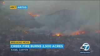 Creek Fire: Evacuations, closures near Sylmar, Kagel Canyon | ABC7