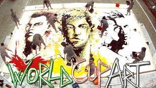 World Cup 2014 Art: Ronaldo, Neymar, Messi – Speed Painting
