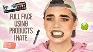 FULL FACE USING PRODUCTS I HATE!! | Thomas Halbert