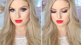 Makeup For Fair or Pale Skin! ♡ Evening Smokey Eyes & Bright Red Lips