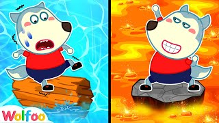 Lava or Water, Which One Can You Pass, Wolfoo? Amazing Stories for Kids  Wolfoo Channel Kids Cartoon