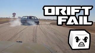 Minivan Drifting at the racetrack