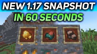 New Minecraft 1.17 Snapshot In 60 Seconds! (RAW ORES IN 21W14A)