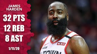 James Harden passes 20,000 points, drops 32 in 28 minutes vs. Timberwolves | 2019-20 NBA Highlights