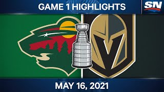 NHL Game Highlights | Wild vs. Golden Knights, Game 1 – May 16, 2021