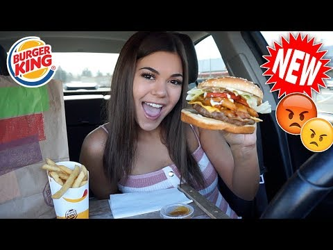 Trying New ANGRY WHOPPER!! Burger King