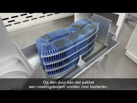 video Dyson AM10 Humidifier Luchtbevochtiger en ventilator – Wit / Zilver