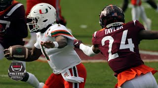 Miami Hurricanes vs. Virginia Tech Hokies   2020 College Football Highlights