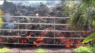 Lava flows destroy homes and set fires in Hawaii