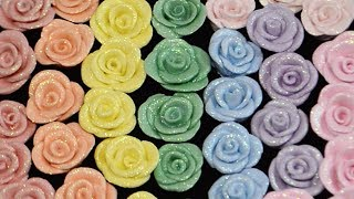 Easy Air Dry Clay Roses With HOLO GLITTER!