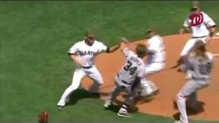 Bryce Harper & Hunter Strickland Fight (May 29, 2017) Giants VS Nationals COMPLETE
