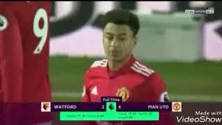 اهداف مباراة مانشستر يونايتد و واتفورد فوز رائع لليونايتد 4_2 ...