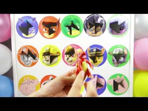 Trolls Movie Wheel Game with PJ Masks versus Paw Patrol versus Peppa Pig Surprise Toys and Mashems