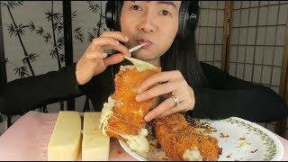 ASMR Eating Cheese Corn Dog, ĂN PHÔ MAI QUE CHIÊN GIÒN.