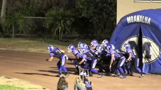 Moanalua Football 2013 Alternate Uniform Entrance