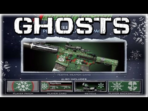 "COD Ghosts - ""FREE HOLIDAY SWEATER CAMO"" Christmas Personalization Pack ""DLC"" - Smashpipe Games"