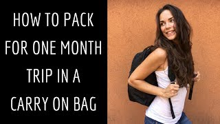 HOW TO PACK efficiently and EXTRA LIGHT for ONE MONTH trip | Hand luggage only