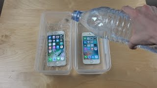 iPhone 7 vs. iPhone SE Water Freeze Test 20 Hours!