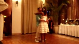 White boy gettin it in on the Wobble Line dance