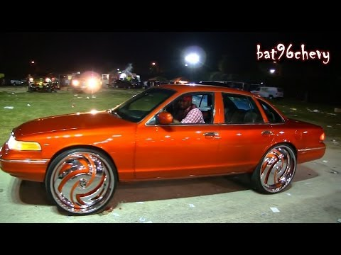Candy Orange Ford Crown Vic on 28