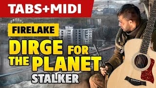 Firelake - Dirge for the Planet [Stalker OST] (Acoustic Guitar Cover, Tutorial with Tab)