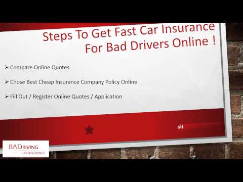 How To Get Cheap Car Insurance With Bad Driving Record